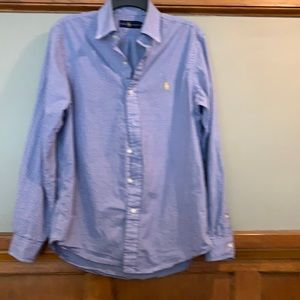 Ralph Lauren 100% cotton gingham button down